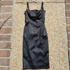 Dolce & Gabbana black silk corset dress size 36